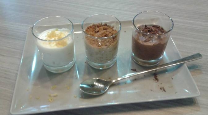 Feestelijk dessert: trio van mousses