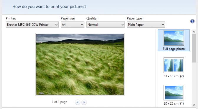 Afbeeldingen op ware grootte afdrukken in Windows