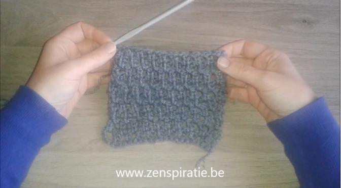 Een dekentje of sjaal haken met de verlengde vaste