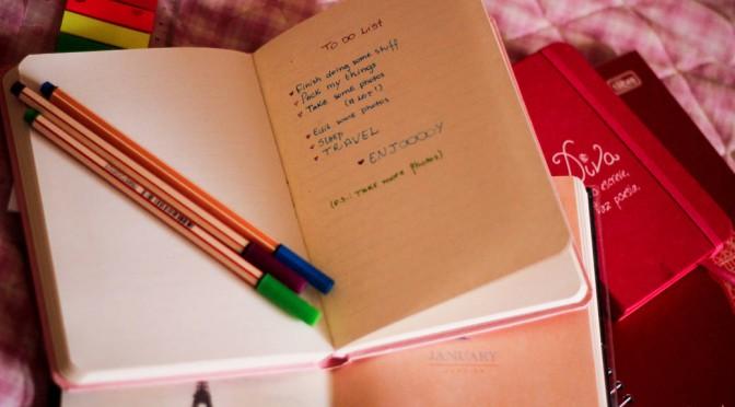 5 tips voor een betere todo lijst en meer rust in  je hoofd