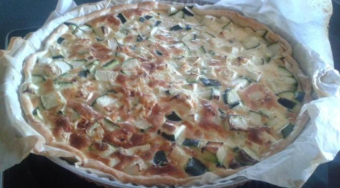Koken met groenten uit de tuin: courgettetaart