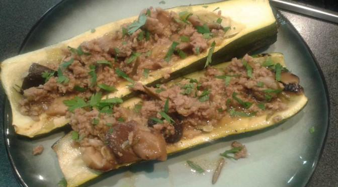 Koken met groenten uit de tuin: Gevulde courgette met shiitakes