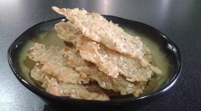 Een heerlijk aperitiefkoekje met quinoa
