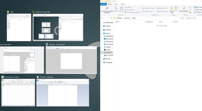 Windows 10: snel 2 vensters naast elkaar zetten