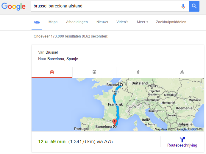 google_afstand