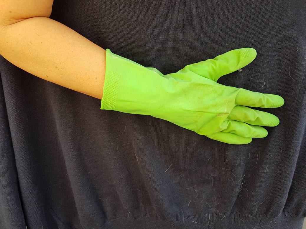 Dierenhaar? De truc met de rubberen handschoen!