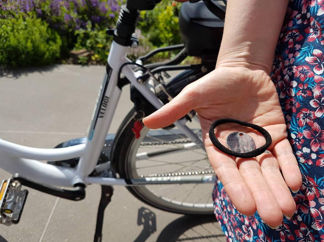 Met lange rok toch veilig op de fiets