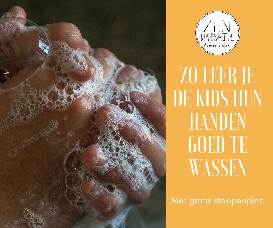 Gratis stappenplan voor kinderen: zo was je je handen