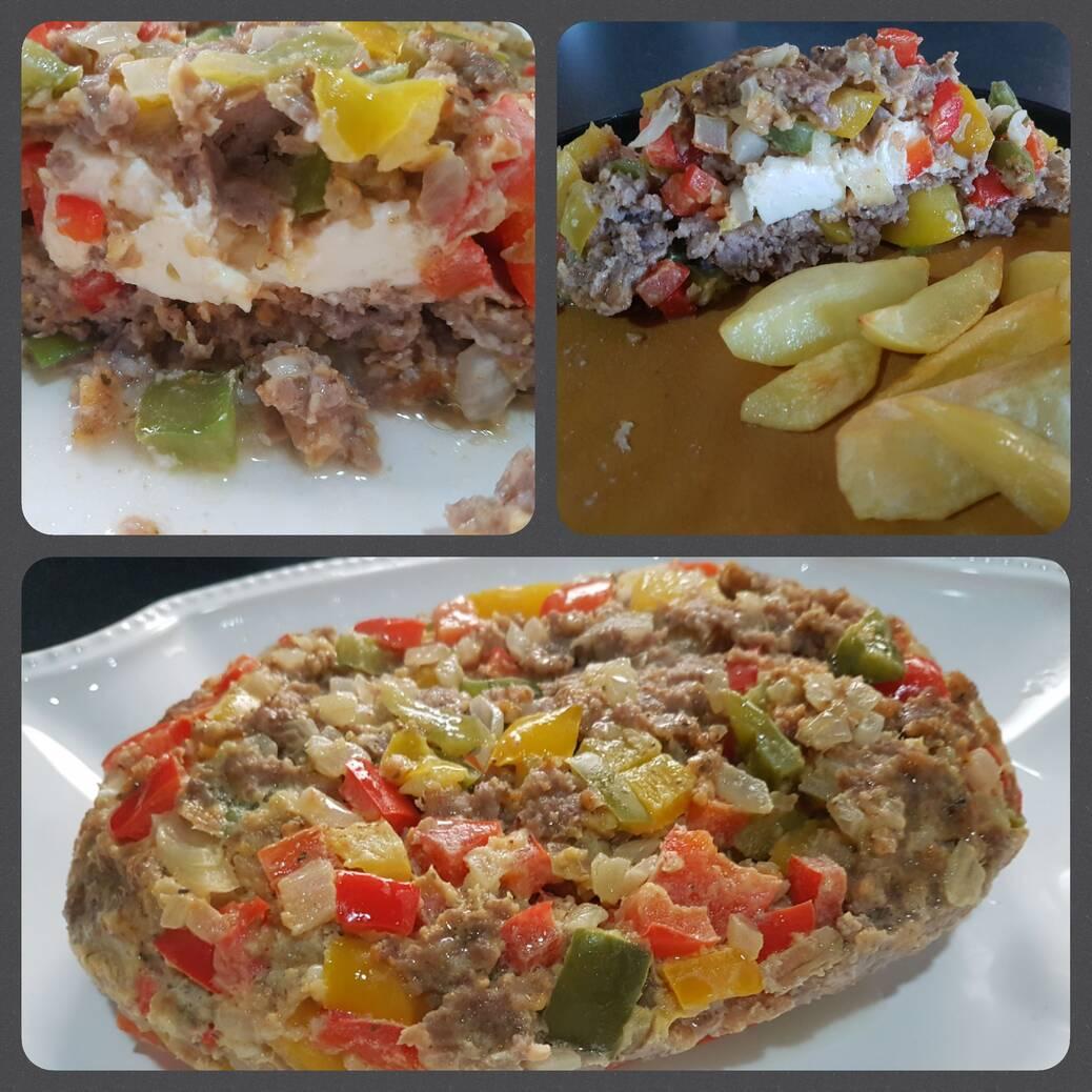 Grieks gehaktbrood in de microgolf